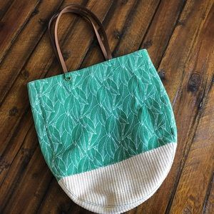 Mossimo Palm Leaf Pattern Tote Bag Like New